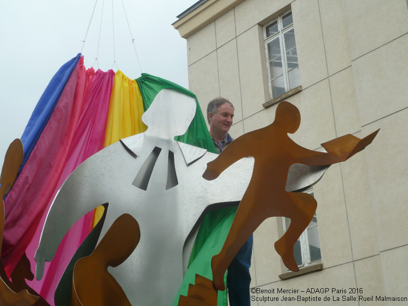 Photo sculpture JLBS inauguration